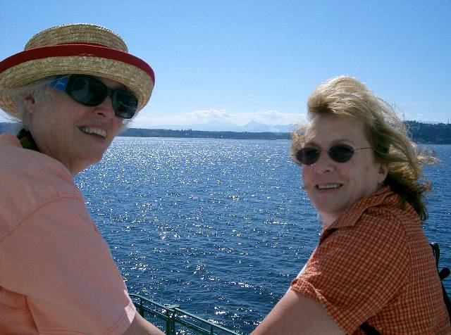 Jill and Melissa on Puget Sound