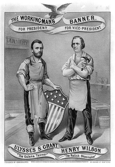 1872 Election Poster for Ulysses Grant and Henry Wilson