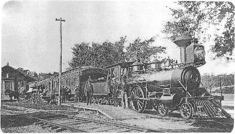 saxtrain PART 6 - History. The main railroad from Boston to Worcester (and later Albany, and California) reached Natick in 1832. In 1846, the Saxonville Branch RR extended from downtown Natick to the dam being built as part of the new Cochituate Reservoir (Boston's first public drinking-water reservoir) and to provide freight and passenger service to the great Saxonville Mills that would replace the smaller mills along Cochituate Brook. Photo courtesy of the Framingham Historical Society.)