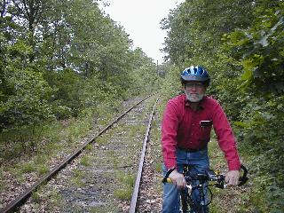 Photo of Dick Miller on Cochituate Rail Trail to be.
